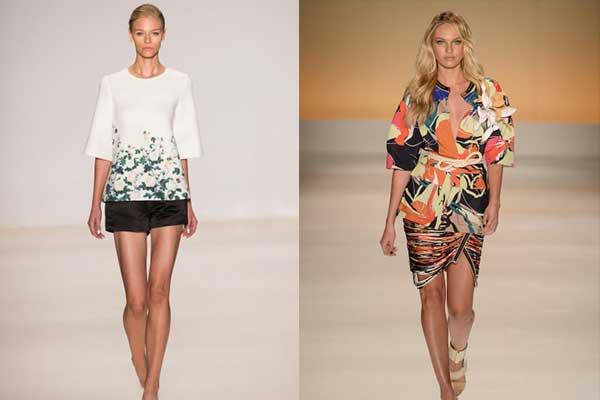 Estampas floridas e de animais são tendência para o verão 2015