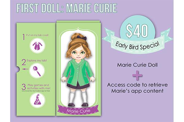 Marie Curie é a primeira boneca da linha Miss Possible